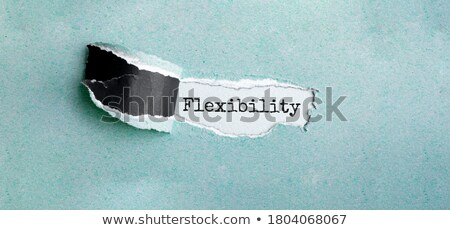 Flexible word Stock photo © fuzzbones0