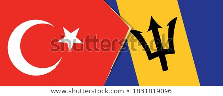Turkey and Barbados Flags Stock photo © Istanbul2009