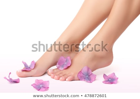 Woman pedicure isolated on white Stock photo © jordanrusev