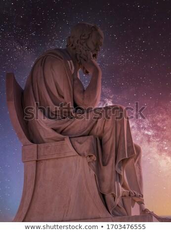 Greek antiquity under dramatic sky. Stock photo © Sprague