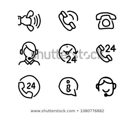 müşteri · hizmetleri · tebeşir · ikon · operatör · konuşma - stok fotoğraf © rastudio