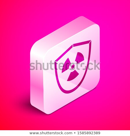 Radioactive Sign Pink Vector Button Icon Stock photo © rizwanali3d