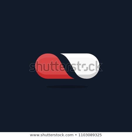 vektör · logo · kapsül · form · çapraz - stok fotoğraf © butenkow