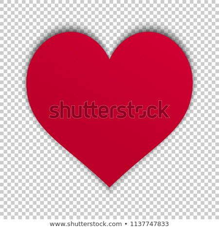 Foto stock: Blank Colorful Symbol Valentine Day Heart Shape For Text Isolate
