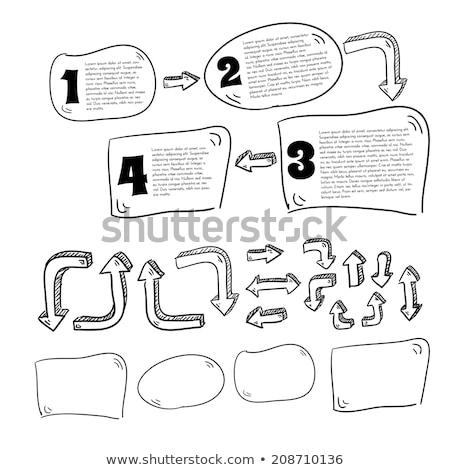 Doodle organigramme icône bleu stylo dessinés à la main Photo stock © pakete