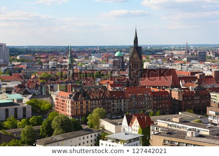 Market Church And Old Town Hall In Hannover Germany Zdjęcia stock © jorisvo