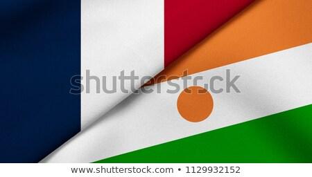 Franciaország Niger zászlók puzzle izolált fehér Stock fotó © Istanbul2009