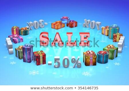 Natal percentagens comprar venda colorido presentes Foto stock © grechka333