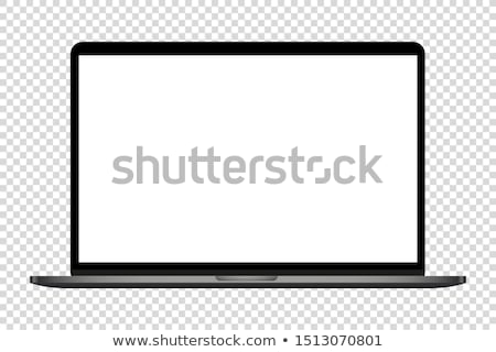 Black laptop isolated on white background Stock photo © m_pavlov