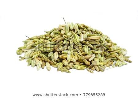 Top мнение органический фенхель семени изолированный Сток-фото © ziprashantzi