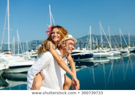 Séduisant marche marina bateaux luxe Photo stock © vlad_star