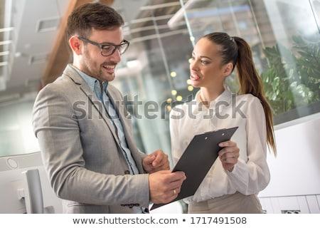 Dos empresarias informal reunión atractivo elegante Foto stock © dash