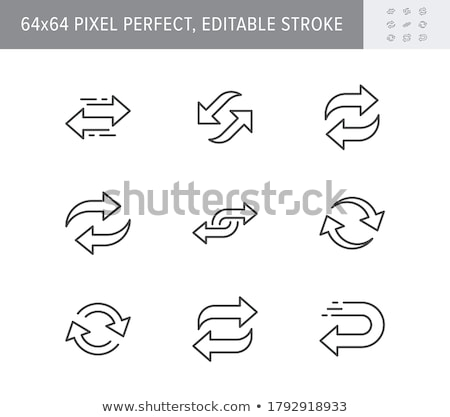 Replay button line icon. vector illustration © Andrei ...