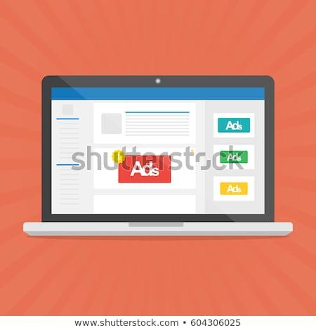 Advertentie campagne laptop scherm moderne Stockfoto © tashatuvango