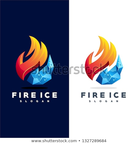 fire and ice Stock photo © prill