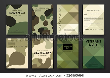 Esercito poster grafica modello eps 10 Foto d'archivio © netkov1