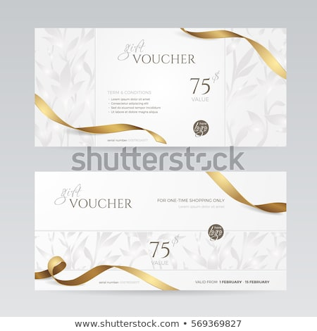 Gold and silver voucher with ornamental floral pattern Stock photo © liliwhite