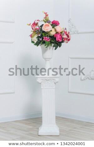 Bouquet fleur blanche jaune pourpre rose Photo stock © mathbapti