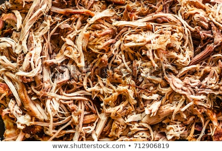 Pulled pork in a bowl ready to be eaten Stock photo © phila54