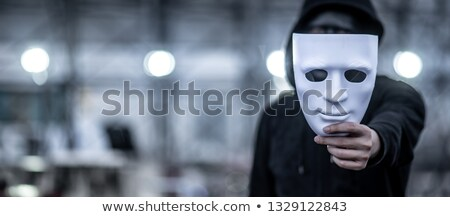 Terrorist zwarte masker illustratie vector Stockfoto © derocz