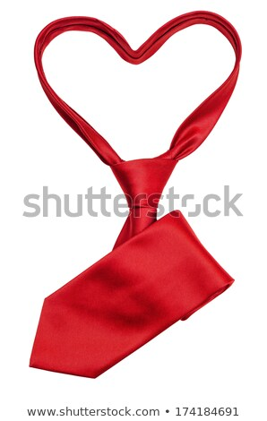 red tie in the form of heart stock photo © traza