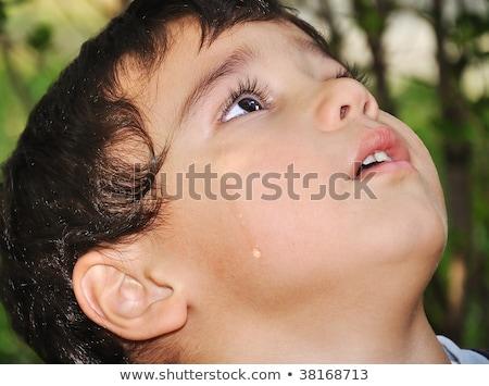 Sevimli çocuk ağlayan gözyaşı tıbbi Stok fotoğraf © zurijeta