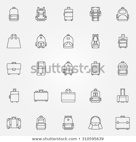 turista · hátizsákos · turista · vonal · ikon · háló · mobil - stock fotó © rastudio