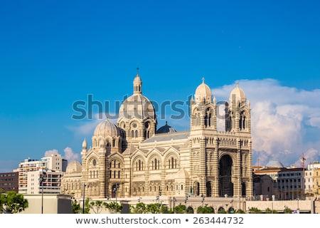 Marseille katedrális LA egy fő- templom Stock fotó © vichie81