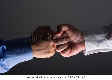 fist bump handshake between businessmen stock photo © adamr