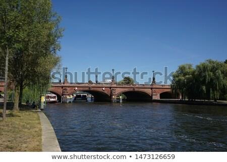 Moltke Bridge in Berlin at river spree Stock photo © meinzahn