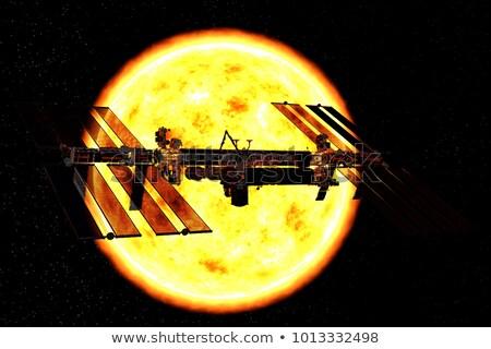 Uydu gezegen örnek uzay mavi araştırma Stok fotoğraf © bluering