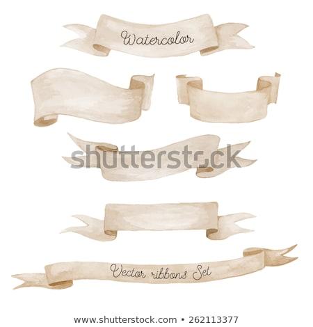 hand · geschilderd · banners · notebook · papier - stockfoto © pakete