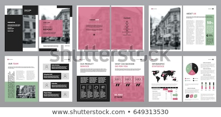 Pink Annual report template business brochure flyer template in  Stock photo © ganpanjanee