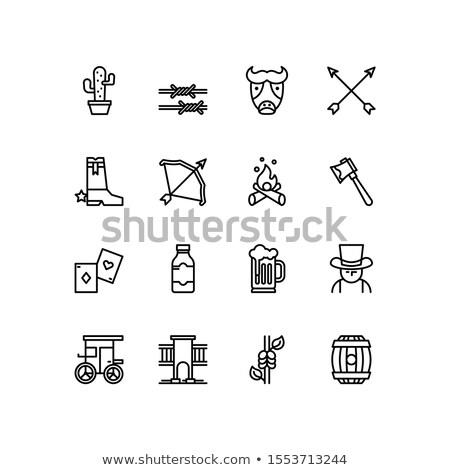 лук Запад иконки изолированный фон Сток-фото © konturvid