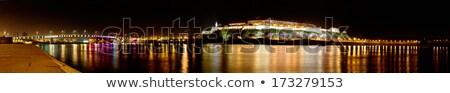 城 ドナウ川 終了する 祭り 雲 クロック ストックフォト © IvicaNS