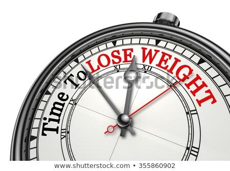 часы слово деревянный стол служба фитнес Сток-фото © fuzzbones0