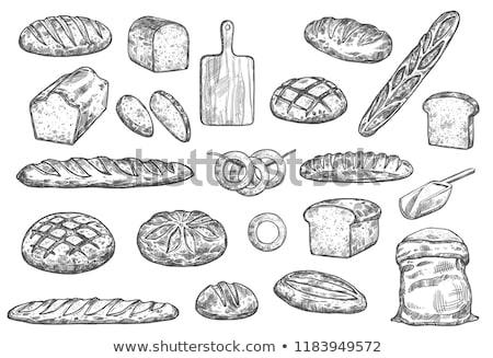 brood · baguette · mais · tarwe · collectie · oor - stockfoto © rastudio