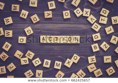 puzzle · szó · diéta · kirakó · darabok · építkezés · fitnessz - stock fotó © fuzzbones0