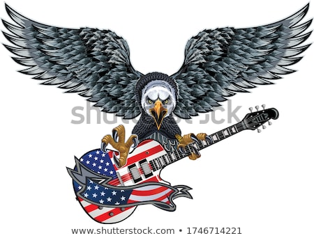Foto stock: Patriota · bandeira · guitarra · bandeira · americana · guitarra · elétrica