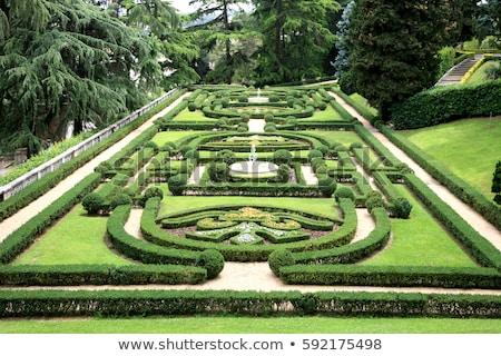 formal · jardins · belo · geométrico · projeto · jardim - foto stock © dezign80