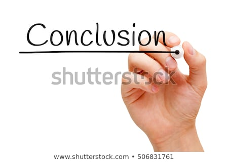 conclusion hand black marker stock photo © ivelin