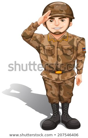 A soldier demonstrating a hand salute Stock photo © bluering