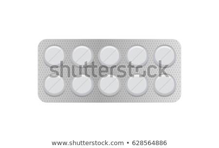 Stockfoto: Pack · medische · illustratie · geneeskunde · witte · grafische