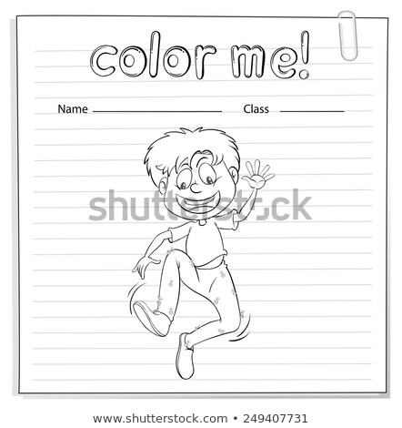 A worksheet showing a boy dancing Stock photo © bluering