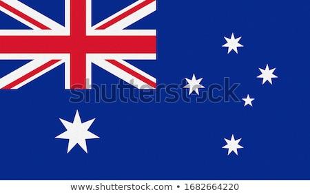 Australiano grunge bandeira papel de parede Foto stock © nazlisart