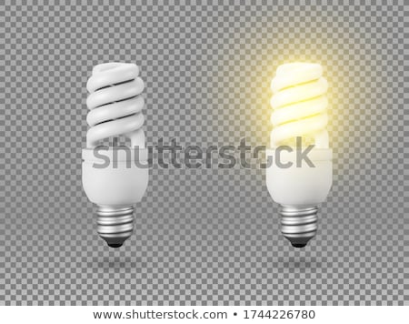 energy saving bulb on white background isolated 3d image stock photo © iserg