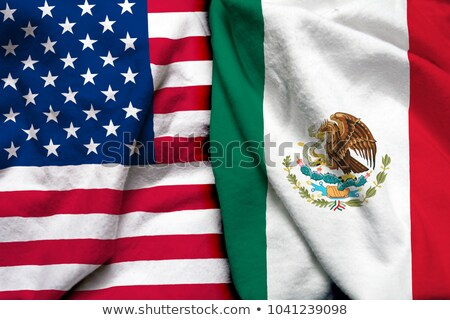 a boxing match between the usa and mexico stock photo © zerbor