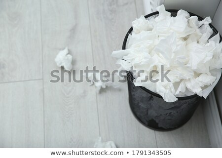 Stock photo: Pile of used papers on the floor