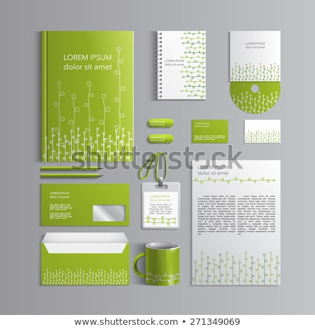 Green leaf Briefkopf Vorlage Vektor Design Stock foto © SArts