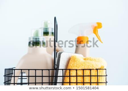 szennyes · por · mosószer · izolált · fehér · takarítás - stock fotó © sarts